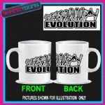 EVOLUTION MONKEY TO SKI SKIING SKIER COFFEE MUG